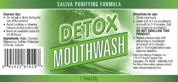 Detox Mouthwash Ingredients & Directions