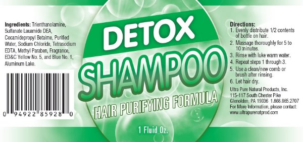 Detox Shampoo Ingredients & Directions